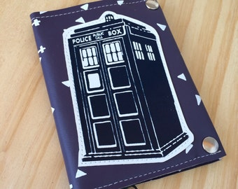 Doctor Who Tardis Sci-fi Fangirl Time Travel Vegan Leather Passport Wallet