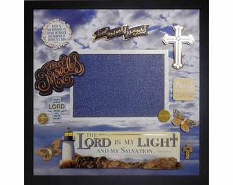GOD ANSWERS PRAYERS Pre-made Memory Album Page (Gallery Wood Frame Sold Separately)