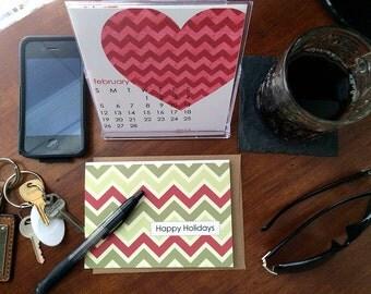 2017 Desk Calendar with Display Case - Seasonal Desktop Calendar