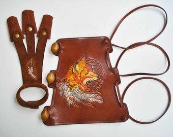 Archery Set Arm Guard and a Shooting Glove