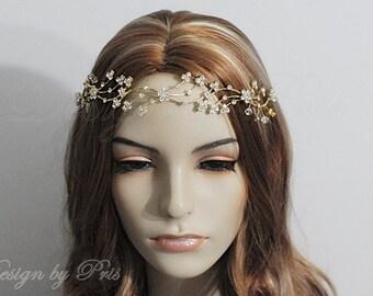 SALE Wedding Bridal Rhinestone Crystals Headband  Bridal Rhinestones Crystals Headpiece