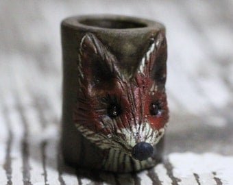 Fox dreadlock bead 10mm
