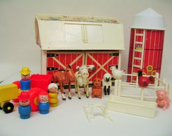 Vintage Fisher Price Farm with Accessories