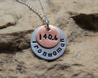 140.6 Ironwoman Triathlon Charm