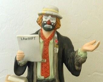 Emmett Kelly Jr. Hobo Clown Figurine - By Flambro -  The Lawyer