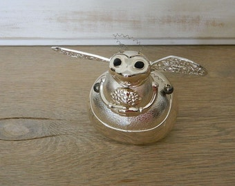 Reed and Barton Silver Plated Bumble Bee Bank