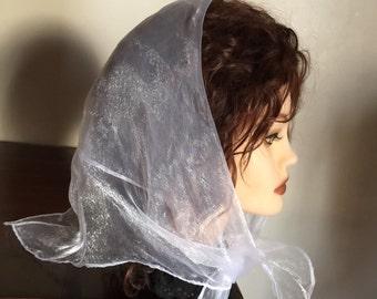 Black or  White Fabulous square Nylon Sheer fashion neck or head Scarves - new -