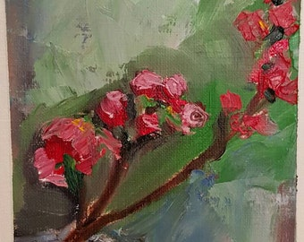 Spring Blossoms 2. Original oil painting. Small. Affordable original paiting. Flowers painting.
