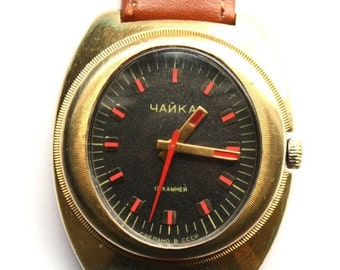 25 OFF SALE Rare Watch Chaika gold covered