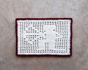 Sagittarius Constellation Crochet Doily, Lace, Zodiac Sign, Archer, Astrology Gift, Arrow Decor, Filet Crochet