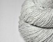 Dirty snow OOAK - Silk/Linen Fingering Yarn
