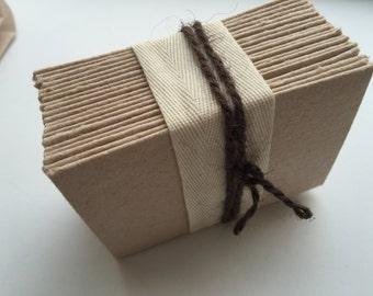 Recycled Mini Envelopes - Oatmeal Mini Envelope - Wedding Thank You Card