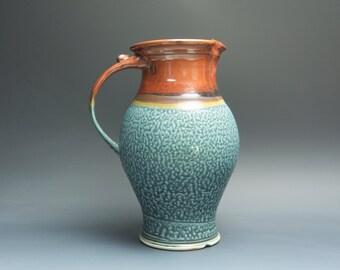 Sale - Handcrafted pottery pitcher, stoneware vase 48 plus oz. 3469