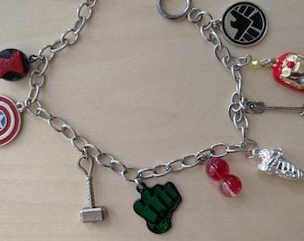 Age of Ultron inspired charm bracelet