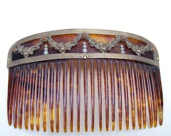 Antique Hair Comb Victorian Hair Accessory Decorative Comb Hair Jewelry Headdress Headpiece Hair Ornament