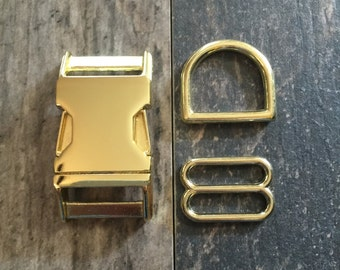 Dog Collar with Gold Hardware- YOU PICK The FABRIC
