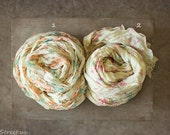 Baby Floral Wraps, Newborn Wraps, Many Colors, Baby Girl Photo Prop, newborn Props, RTS, Cream, Peach Pink Wrap, Baby Props, Vintage, Fringe