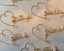 Christmas gift, Wine Glass Charm, Personalized Wine Charm, Wedding Favor, Bridesmaid Wine Charms, Bridal Party Wine Charms, Champagne Charms
