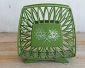 Vintage Napkin Holder //  Avocado Green // Retro Kitchen
