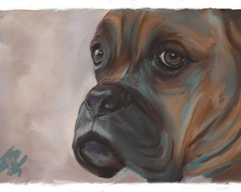 Custom Digital Pet Portraits, Realistic Portrait, Digital Painting