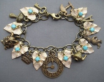 Alice in Wonderland Jewelry - Alice in Wonderland Bracelet - Alice in Wonderland Charm Bracelet - Fairy Tale Jewelry - Fairy Tale Bracelet