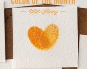Color of the Month: Wild Honey, ON SALE, Dye-based ink pad for fingerprint tree, thumbprint balloon, alternative guestbook designs