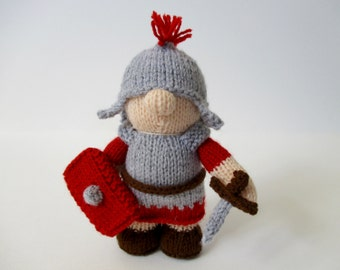 Antonius the Roman Soldier doll knitting pattern