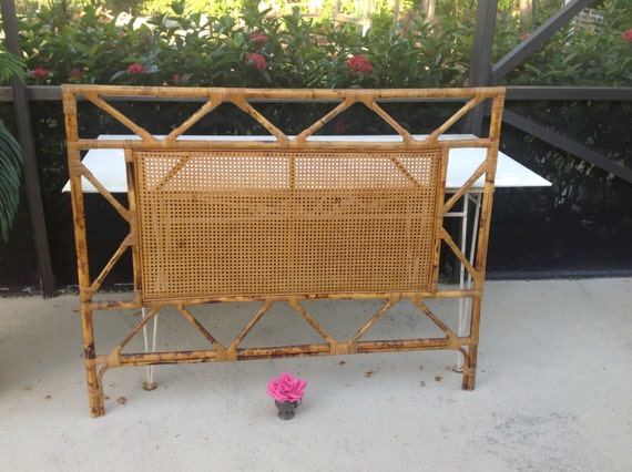 tortoise rattan cane headboard full/queen size bamboo, Headboard designs