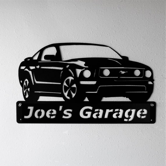 Ford Mustang 2005-09 - 5th Generation - Man Cave - Garage Sign - Satin Black - Personalized Sign - Metal Art - Car Art
