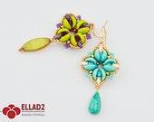 Tutorial Libby Earrings-Beading Tutorial, Instant download,Ellad2