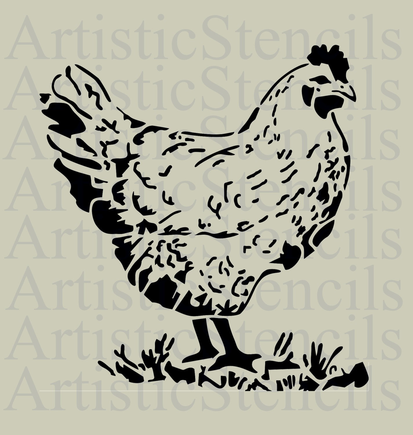 rooster stencil no 2 various sizes from artisticstencils on etsy