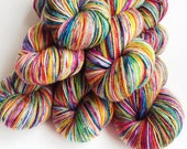Knitters for Peace - MyPrecious - Sparkle Merino - Handdyed fingering weight yarn wool nylon