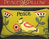 Wool Applique Pattern, Peace Dove Pillow, Timeless Traditions, PATTERN ONLY