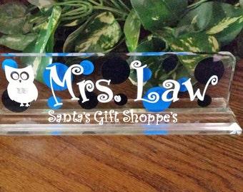 Teacher Gift, Teacher's Desk Plate,Teacher's Appreciation Week, Acrylic, Name Desk,Valentine's Day, Christmas, Christmas gift ,Easter Gift