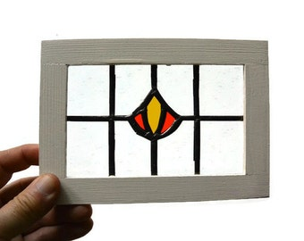 Stained Glass Miniature Window - Old English Window
