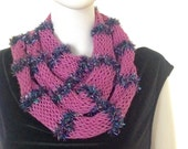 Scarf, hand knit, variegated, pink, wonderful, super soft and stylish, new lace fashion  spring and summer