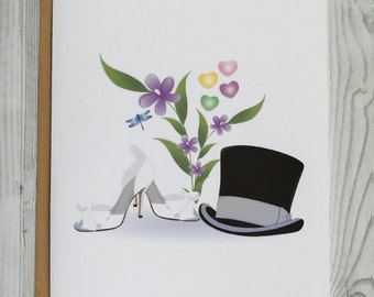 Delicate Wedding Things Card, Invitation, Blank Card, Greeting Card, All Occasion Card