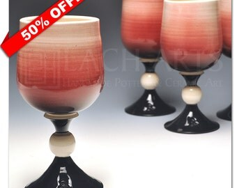 "50% OFF - ""Red Skies At Night"" Red Wine Chalice"