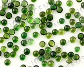Green (dark) Tourmaline Cabochon 3mm Round - 1 cab, CTOU13SR3