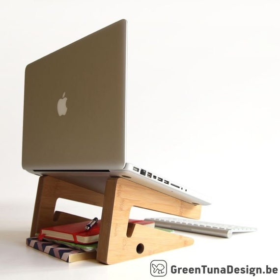 LAPTOP STAND: this unique puzzle shaped laptopstand in bamboo wood is the perfect present