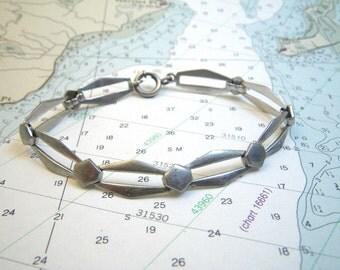 """Sterling Silver Openwork Link Bracelet 7"""""""