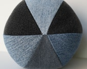 Personalized Recycled Denim Dog Squeaky Ball toy X-Large