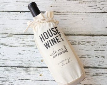 New Home - House Wine - Closing Gift - Realtor Gift - Wine Favor Bag - Personalized Favor Bags