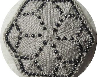 Gray on Gray hexagonal Beaded Kippah