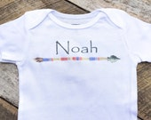 NEW Personalized Arrow Onesies®, Baby Boy Onesie, Baby Boy Clothes, Graphic Onesie, Baby Singlet, Native Anerican, Cute Baby Clothes, Noah