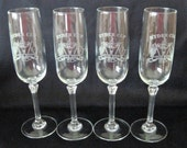 4 Vintage Ryder Cup Oak Hill Country Club Champagne Flutes Glasses Circa 1995