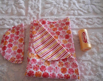 Baby Girl Candy - Receiving Blanket and Burp Cloth