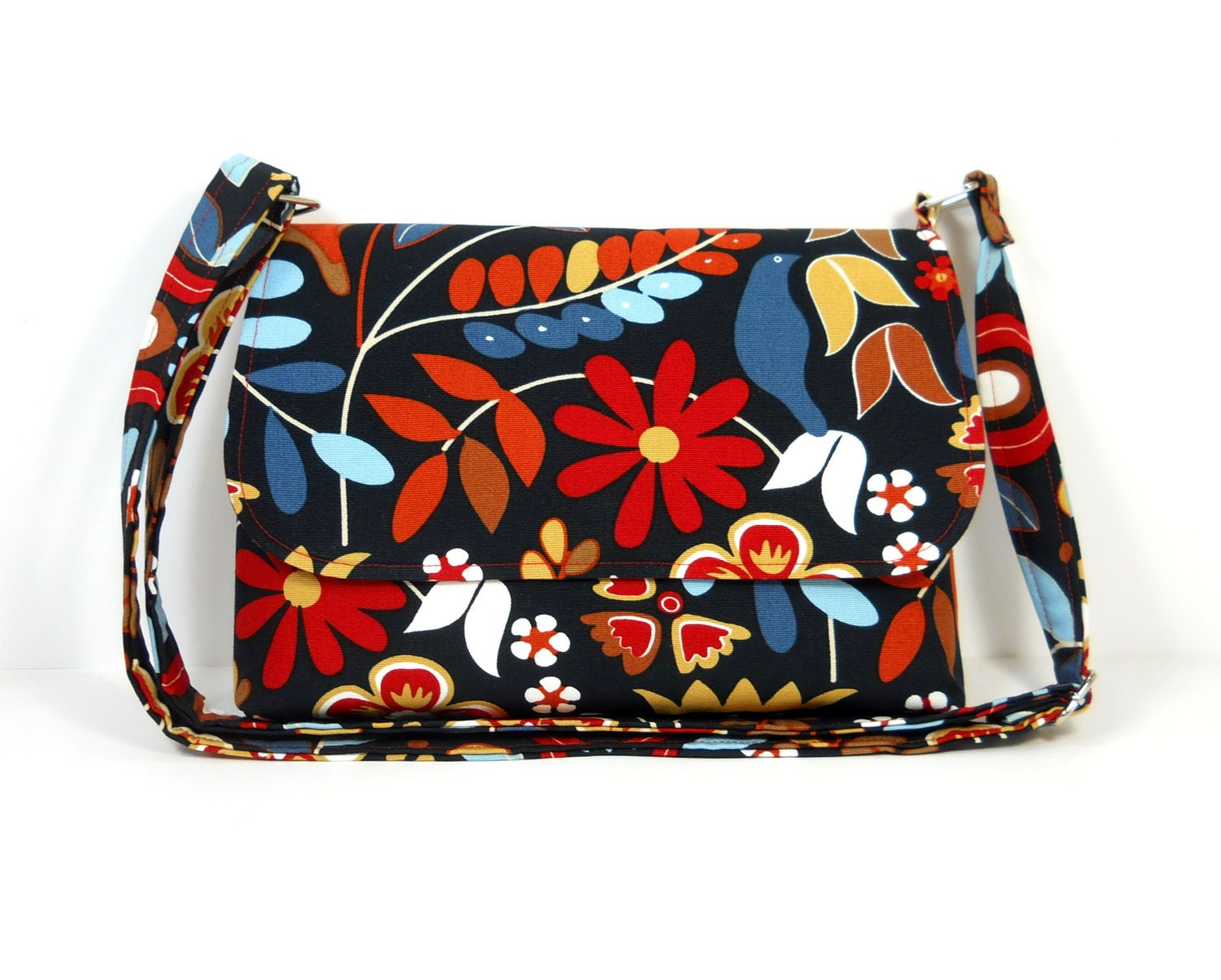 Small Floral Purse Crossbody Bag IKEA Fabric Purse Colorful