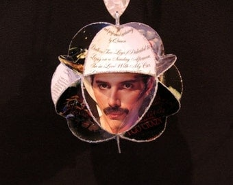 Queen Band Album Cover Ornament Made Of Record Jackets - Freddie Mercury