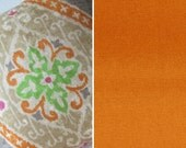 Special Listing for Wendy - 2 18x18 Iman Ikat diamond nectar - 2 18x18 Scalamandre Velvet Orange